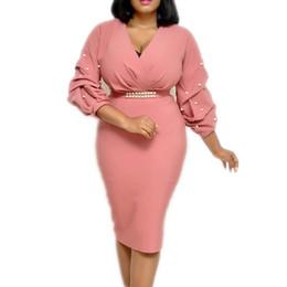 Túnicas noturnas on-line-Mulheres brancas rosa dress apertado peplum senhoras elegantes officewear magro festa à noite túnicas femme pacote robe hip roupas de outono