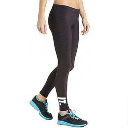 leggings do esporte da marca da aptidão Desconto Marca Mulheres Leggings Carta Impresso Esporte Calças Skinny Stretchy Tight Fitting Elastic Slim Calças Lápis de Fitness