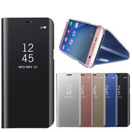 Samsung note estuche original online-Funda original para teléfono Smart Mirror para Samsung Galaxy S10 S9 S8 Plus Note 10 Plus 9 8 A10 A20E M30 M40 A30 A40 A50 A70 Funda de cuero con tapa