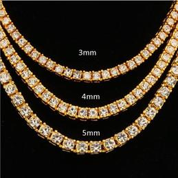 Explosiva moda europea y americana atractiva hip-hop de 4 mm de aleación de agua perfora una fila de collares Oro Plata Oro Rosa multi-específico desde fabricantes