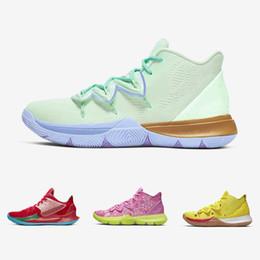 Éponge Bob X Kyrie Hommes Chaussures de Basketball Athletic Kyrie Irving 5 M. Krabs Patrick Squidward Sandy Cheeks Star Hommes Baskets De Sport