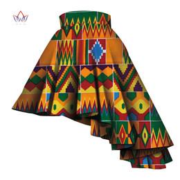 ropa tradicional africana Rebajas 2019 Ropa Tradicional de Verano Falda de Mujer Dashiki Africano Para Mujeres Bazin Imprimir Falda de Trabajo Casual Natural Wy4440