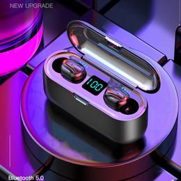 2019 auriculares para dormir HBQ-Q32-1 TWS 5,0 auriculares estéreo Bluetooth para auriculares inalámbricos Auriculares impermeables Mini BT con micrófono pantalla LED para Smartphone