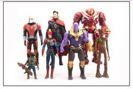 Brinquedos feitos pelo homem on-line-7 peças Marvel vingadores 4 brinquedos modelo Thanos capitão América Dr. Strange formiga-homem maravilha tem hand-made figuras de ação crianças brinquedos