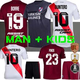 Prato do rio on-line-MEN + KIDS 2019 camisa de futebol em casa 19 20 Pratto Fernandez SCOCCO Palacios 70 Anos Libertadores camisas de futebol 2020 River Plate QUINTERO