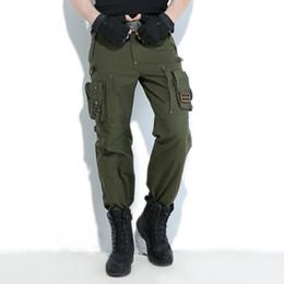 Штаны зеленого трикотажа онлайн-Свободный Рыцарь На Открытом Воздухе Брюки-Карго Мульти Карманный Джерси Мужчины армейский зеленый военные Туризм кемпинг длинные брюки