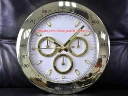 Relojes de pared azul online-10 Estilo de alta calidad reloj reloj de pared de 34cm x 5cm de acero inoxidable de 2 kg de cuarzo electrónicos azul luminiscente Cosmograph 116508 Reloj Relojes