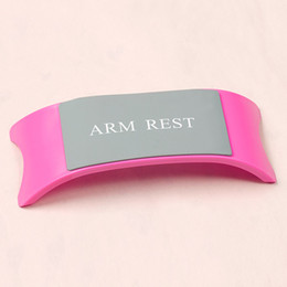 2019 almofada de almofada de braço Nail Art portátil salão de beleza braço de pulso de mão Resto Silicone ABS Pillow Cushion Manicure Holder desconto almofada de almofada de braço