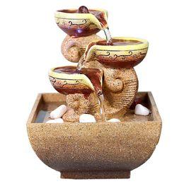 Argentina Decorativa de interior Fuentes de Agua de escritorio de oficina del regalo decoración para el hogar de humidificación artificiales Piedras Craft 110V, 220V A $ Suministro