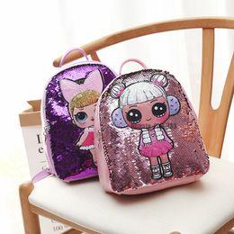 Zaini sequins online-lol Zaino Cartoon Unicorn Paillettes Adolescenti Anime Bambini Studente Borsa da viaggio Viaggio Bling Borse Zaino Per Bambini e Adulti