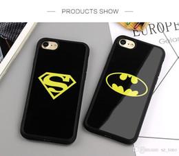 2019 funda de superman para iphone Carcasa Mytoto Mirror Superman Batman para iPhone 7 Plus 6 6s 8 Plus X Funda trasera para iPhone 6S 5 5S SE Fundas funda de superman para iphone baratos