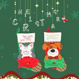 2019 sacos em forma de cão Fontes de Festa de Natal Festivo Bonito original Do Gato Forma de Cão Saco de Presente de Natal Meia de Doces sacos em forma de cão barato