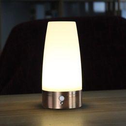 2019 led más pequeño con pilas WRalwaysLX Luz de noche LED retro para el hogar, lámpara pequeña con sensor de movimiento PIR LED inalámbrico para interiores / exteriores, lámpara a batería para habitaciones rebajas led más pequeño con pilas