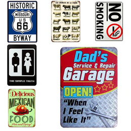 vintage oil signs Promo Codes - Motor Oil Plaque Vintage Metal Tin Signs 30*20cm Home Bar Pub Garage Gas Station Decorative Iron Plates Wall Stickers Art Poster