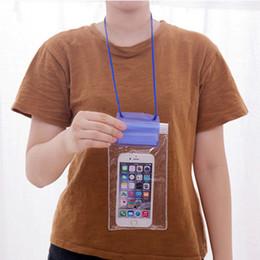 cas meizu Promotion Étanche téléphone housse tactile tactile téléphone portable sec sac de plongée poche avec sangle pour IPhone Xiaomi Samsung Meizu VT1442