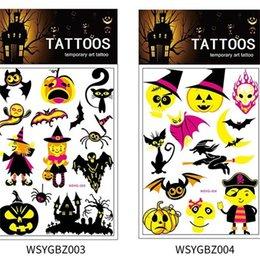 Popüler Floresan Sticker Cadı Kabak Ay Su Geçirmez Karikatür Hayvan Dövme Çıkartma Çocuk Oyuncak Kol Cadılar Bayramı Dekorasyon 2 28yhH1 nereden