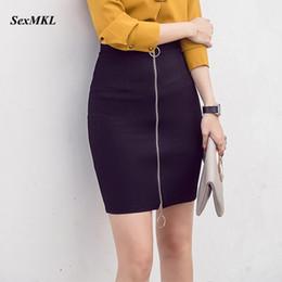 747d8ea54f8 Sexmkl Plus Taille Femmes Mini Jupe Crayon Mode Coréenne Taille Haute Noir  Jupes Court Bureau Dame Fermeture Éclair Moulante Jupe Rouge Y19042602