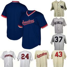 gioco indossato Sconti Washington Senators Game Worn Coaches Jersey 100% cucita Washington Senators maglie da baseball personalizzate Qualsiasi numero nome Spedizione gratuita