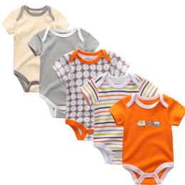 tuta generale dei ragazzi Sconti 2019 Estate Cotone Pagliaccetti Primavera Neonate Ragazzi New Born Abbigliamento Bebe Pigiama In Tuta Abbigliamento Bambino Tuta Tuta Y19061201