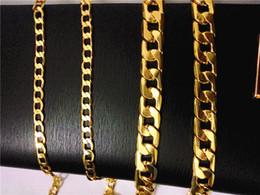 collana di perle di topaz Sconti 2017 nuovo giallo hip hop gioielli in acciaio 18 k placcato oro alta lucido Miami Cuban Link Collana uomini punk cordolo catena farfalla Clas