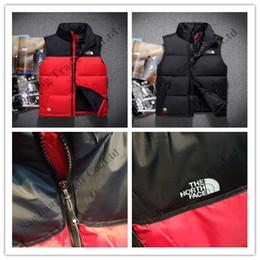 Diseños de chalecos online-El hombre The North Face mangas de chaquetas de marca NF abajo conceden Coats Diseño de invierno Casual Male abajo sin mangas Trajes ropa exterior C102405