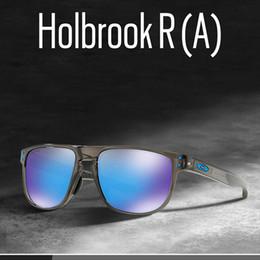 occhiali da sole a balestra Sconti 2020 occhiali da sole polarizzati del progettista di marcaHolbrook R occhiali da sole moda per gli uomini antivento esterna di occhiali con Box OO9377 TopOakley