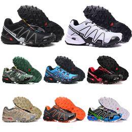Sapatos ao ar livre tamanho 46 on-line-2019 Salomon velocidade cruz 3 CS ao ar livre running shoes para mens top quality Preto Branco respirável Atletismo Sapatos esportivos Tênis tamanho 40-46