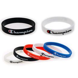 Bracelets pour basketball en Ligne-Lettre C Silicone Bracelet Mode Sport Bracelet Amoureux En Caoutchouc Basketball Bracelet Anniversaire Fête Saint Valentin Cadeau TTA881