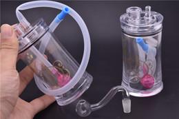 l'olio può bongere Sconti Nuovo design cilindro in plastica Mini Oil Rig Lattine per bevande Bong per acqua Bong da fumo portatile con narghilè da 10mm