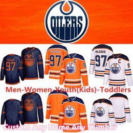 Deutschland 2020 Saison Edmonton Oilers Jerseys 97 Connor McDavid 29 Leon Draisaitl 93 Ryan Nugent Hopkins 89 Sam Gagner 41 Mike Smith Hockey Jerseys Versorgung