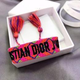 Ich armband online-Neue Marke D + I und OR American Indian Crafts gewebte Armbänder Amulett Stickerei Brief Armband Klassische handgewebte Armband