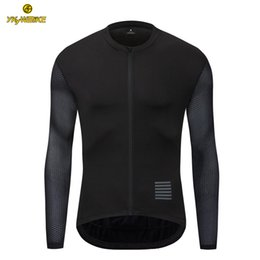47c5fc773 YKYWBIKE Customized Cycling Jersey Long Sleeve New Mesh Fabric Ropa  Ciclismo Hombre Black Color Pro Team Cycling Clothing In Stock