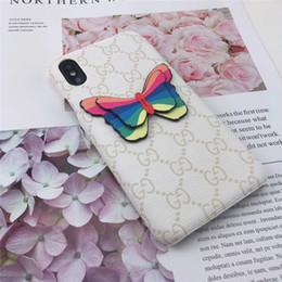 iphone rückseitige abdeckung schmetterling Rabatt Einteilige Luxustelefonkastenart und weise für iPhone 6S 7 8 P X XS Farben- und Schmetterlingsdesignertelefon-rückseitige Abdeckung für Geschenke