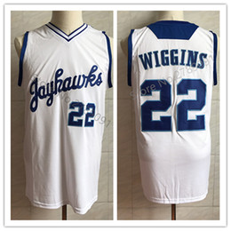 d94a6986a  22 Andrew Wiggins Kansas Jayhawks KU College White Retro Classic Basketball  Jersey Mens Stitched Custom Number and name Jerseys