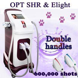 Gesicht haarentfernung maschine online-OPT SHR Eligt elight machine shr dauerhafte Haarentfernung OPT SHR handle + Elight handle rf machine face