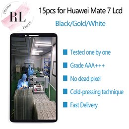 parts for huawei Coupons - 15PCS for original LCD HUAWEI Mate 7 LCD display touch screen digitizer spare parts MT7-TL00 for MATE7 Mate 7