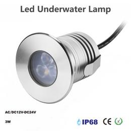 Luce spot principale impermeabile 3w online-Lampada subacquea IP68 impermeabile a LED da 3W con illuminazione sul fiume e sui ponti