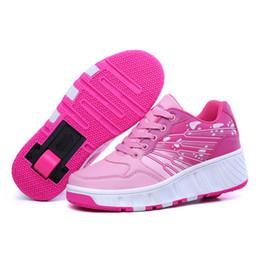 Niño rodillo online-Niños niñas Roller Skates Zapatos niños Light Inline Patines con ruedas Boy Girl Inine Roller niños Zapatos Zapatillas de deporte botas