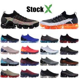 Top designer di scarpe uomo online-Zebra nike vapormax Knit 2.0 Scarpe da corsa leggere Safari Volt CNY Scarpe firmate Scarpe da tennis sportive da uomo triple nero 1.0 di alta qualità