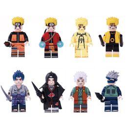 figura anime japão Desconto Japão desenhos animados anime Naruto Hokage Ninja Uzumaki Naruto Hatake Kakashi Uchiha Sasuke Itachi Jiraiya Mini Action Figure Building Blocks Toy