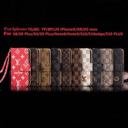 cassa impermeabile brandnew del telefono Sconti Portafoglio in pelle Custodia per telefono per IphoneX XS XR XSMAX IphoneX Iphone7 / 8Plus Iphone7 / 8 Iphone6 / 6sP 6 / 6s Custodia per telefono di design con cinturino