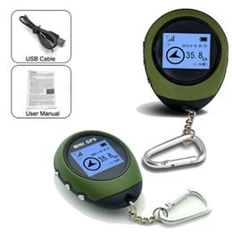 Tracker della bussola online-Outdoor GPS ad alta precisione EDC Electro Bussola Verde accurata posizionatore selvaggio Camping pratico mini nuovo palmare Localizzatore 125lhD1