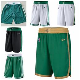 2019 michael jackson azul BostonCeltics 2019/20 ÍconeEdição Swingman JerseyNBA Basketball Shorts Verde