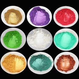 maquillaje saludable Rebajas Lote Color DIY Mica Mineral Natural Saludable DIY Pigmento Colorante Maquillaje Sombra de ojos Jabón Para Labios Maquillaje