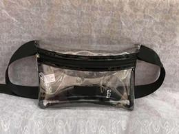 Bolsas de moda clara on-line-Rosa Carta Fanny Pack Transparente Saco Da Cintura Bolsa Transparente Do Telefone Saco Cosmético bolsa da forma