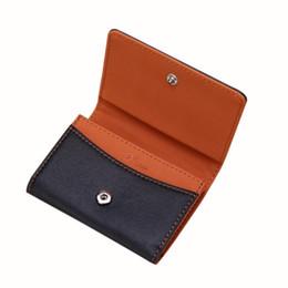Легкий кошелек для карт онлайн-Простые мужские кожаные карты наличными квитанция держатель органайзер двойной кошелек кошелек тонкий легко носить с собой