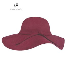 New Women s Wide Brim Wool Felt Bowler Fedora Hat Floppy Cloche Sun Cap 79dcaf5afc14