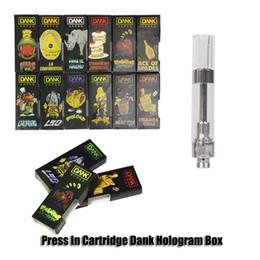 2019 schraubenlöcher Dank Holographic Black Verpackung Vape Cartridges G5 510 1.0ml Gewindeschraube 1 Gramm Keramikspule 2.0mm Loch CartridgeThick Oil Cartridges günstig schraubenlöcher