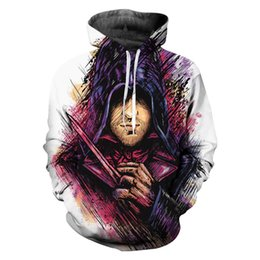 2019 assassins hoodie 2019 heißer Verkauf Assassins Creed 3D Print Hoodies Kleidung Casual Pullover Spiel Sweatshirt Männer Neuheit Streetwear Mit Kapuze Hiphop günstig assassins hoodie