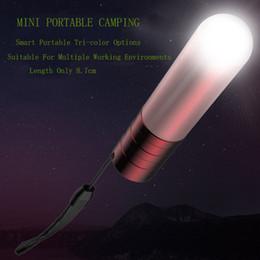 2019 linternas rojas por mayor Mini-linterna Imán Aire libre Campo de la lámpara LED que acampa portable lámpara de la tienda de reparación Meet Una pequeña caída de la lámpara de emergencia